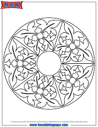 abstract mandala pattern coloring page h u0026 m coloring pages