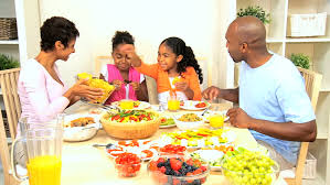 a family gathering at the dinner table stock footage 1637341