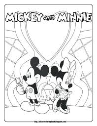 mickey mouse coloring pages free printable clubhouse book