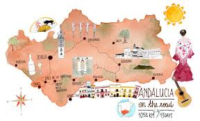 Andalucia Spain Map by I Diari Della Lambretta Andalucia On The Road 13 Days 1000 Km