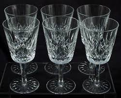 set of 6 waterford lismore water goblets wine glass 6 7 8