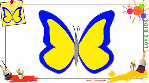 how to draw a butterfly 4 simple easy u0026 slowly step by step for