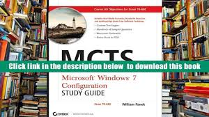 free download mcts windows 7 configuration study guide exam 70