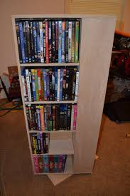 Dvd Shelves Woodworking Plans by Ana White My First Project Spinning Dvd Rack Diy Projects