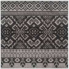 6 X 6 Round Area Rugs by Safavieh Adirondack Silver Black 6 Ft X 6 Ft Round Area Rug