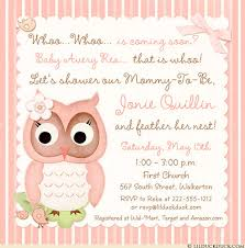 baby shower cards adorable owl baby shower cards pink birdie whoo striped