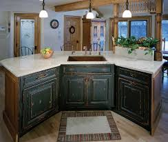 distressed island kitchen custom stained painted distressed island cabinets winchester ma