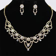 necklace elegant images Elegant design gold plating crystal rhinestones wedding necklace jpg