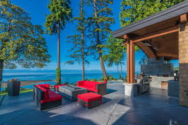 Vancouver Patios by Energy Efficient Luxury Ocean View Home On Vancouver Island