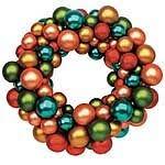 simple glass ornament wreath 24 7