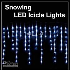 plain decoration led icicle lights falling cool white
