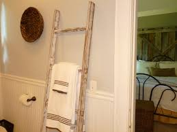 35 small bathroom design ideas to maximize space ideas 4 homes vintage ladder towel hanger