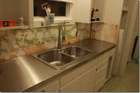 Stainless Steel Kitchen Bench Stainless Steel Benchtops Clic Remodelaholic Affordable Stainless Steel Countertops Diy
