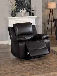 swivel glider chairs living room homelegance oriolle swivel glider reclining chair dark brown