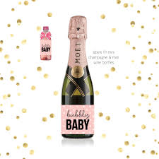 mini champagne baby shower favor labels baby shower ideas