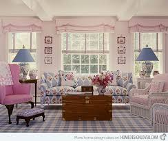 Warm And Cozy Country Inspired Living Room Design Ideas - Pink living room design