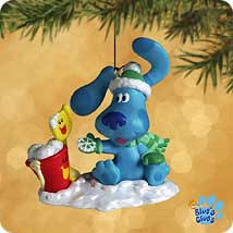 2002 blue s clues snow hallmark ornament at ornament mall