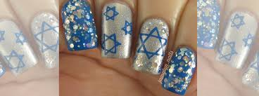 hanukkah nail nail tutorial hanukkah nails nail it