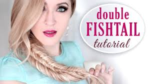 double fishtail braid tutorial stacked boho chic hairstyle