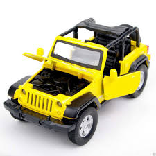 jeep model kit yellow jeep wrangler suv 1 32 diecast plastic car model kit