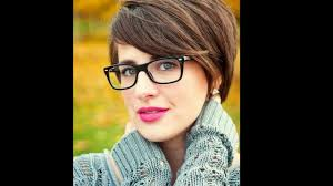 simple short women u0027 s hairstyles with glasses youtube
