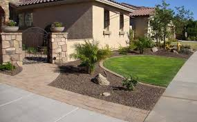 Landscaping Pictures For Front Yard - arizona tropical landscape design with sod palm trees plants