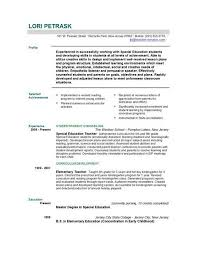 Sample Faculty Resume by Teaching Resume Objective Best Resume Collection