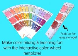 interactive color wheel middle high art lesson plan template