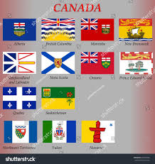Canadian Provincial Flags All Flags Provinces Territories Canada Stock Vector 645704056