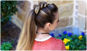 pull thru ponytail cute girls hairstyles youtube