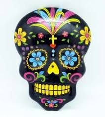 day of the dead masks la catrina fortune teller day of the dead clay tile great