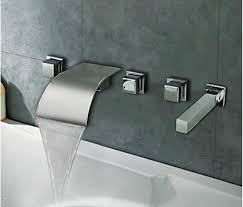 Waterfall Style Faucet 5 Pcs Tub Faucet Decorative Kitchen Cabinet Hardware Handle