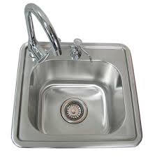 kitchen sink and faucet combo shop sunstone 16 25 in x 17 in single basin stainless steel drop