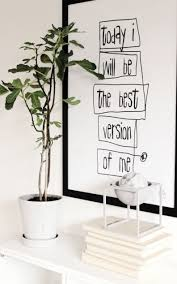 hot wall stickers home decor inspirational sentence wallpaper white walls green plant white accents and black white worded wall art