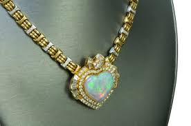 jewelry gold diamond necklace images Opal heart gold diamond necklace dsf antique jewelry jpg