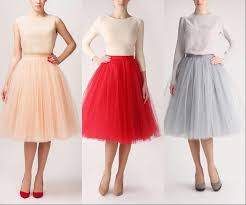 knee length skirt new colorful tulle knee length skirts women and girl dress soft