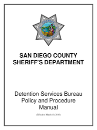 20160310 san diego county sheriff u0027s detention service policy and