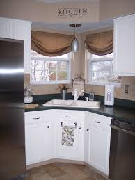 Best Corner Kitchen Windows Images On Pinterest Kitchen - Corner sink kitchen cabinets