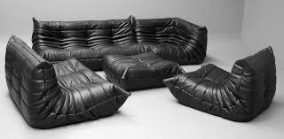 ligne roset sofa togo vintage black leather togo sofa set by michel ducaroy for ligne