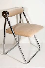 Old Metal Folding Chairs That Fold In Ultra Luxe Modernist Folding Chair Attributed To Giancarlo Piretti