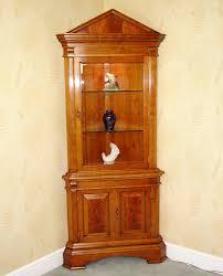 cherry wood corner cabinet open front cherry wood corner cabinet an open front double door