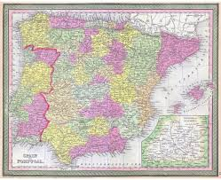 Map Of Spain And Morocco by Maps Of Spain Detailed Map Of Spain In English Tourist Map