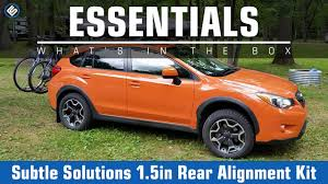subaru crosstrek lifted subtle solutions 1 5 inch rear alignment kit 2014 forester