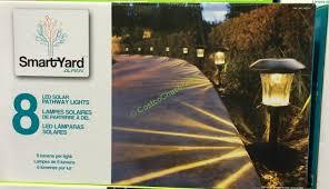 Alpan Solar Lights - smartyard solar led 13 8 u2033h pathway lights 8 pack u2013 costcochaser
