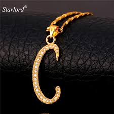 Personalized Photo Pendant Necklace Aliexpress Com Buy Starlord Initial C Letter Pendants