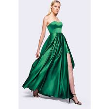 emerald green strapless cocktail dress ivo hoogveld