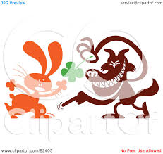 royalty free rf clipart illustration of a cartoon wolf taking a