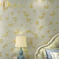 Wallpaper For Bedrooms Modern Flower Wallpaper Promotion Shop For Promotional Modern