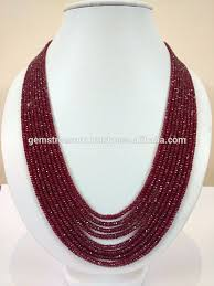 multi layered bead necklace images Multi layered facetate ruby natural precious stone beads necklace jpg