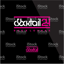 pink martini logo cocktail bar logo stock vector art 641115184 istock